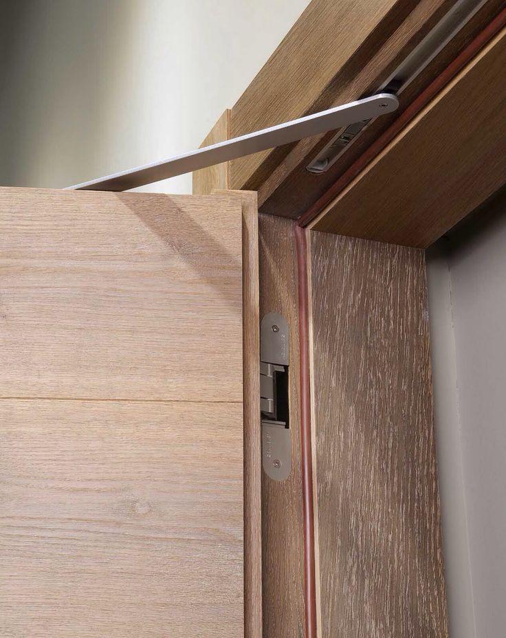 Wood Doors by Heartwood.es detail of the hinge. Simonswerk tectus