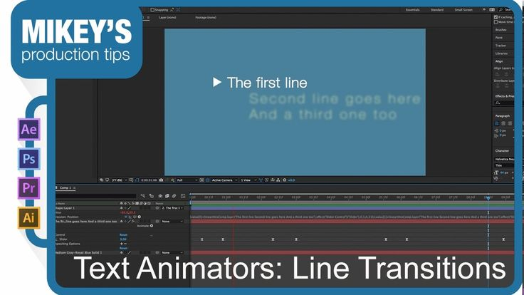 After Effects Text Animators: Line Transitions