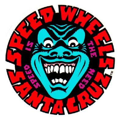 Speed Wheels Sticker Santa Cruz