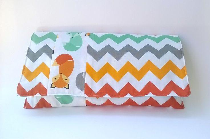 Etui na pieluszki z liskami w Yayo-handmade na DaWanda.com