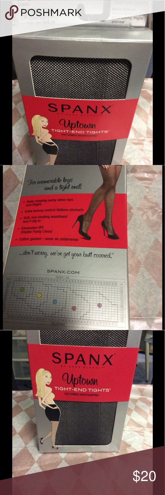 SPANX NEW UPTOWN TIGHT END TIGHTS BLACK SIZE C NEW It is time to look your best ! SPANX by Sara Blakely, UPTOWN TIGHT END TIGHTS ..black stockings that shape and smooth your waist, rear end , thighs and legs. SPANX size C . Tiny amount of damage on the bottom of the box. Non smoking home, please ask questions you may have, thank you for looking..... SPANX Intimates & Sleepwear Shapewear