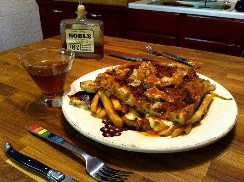 Our most decadent #grilled #cheese sandwich yet! 9th Street's Ian Peacock shares his recipe for Foie Gras Poutine Grilled Cheese.Grilled Cheese