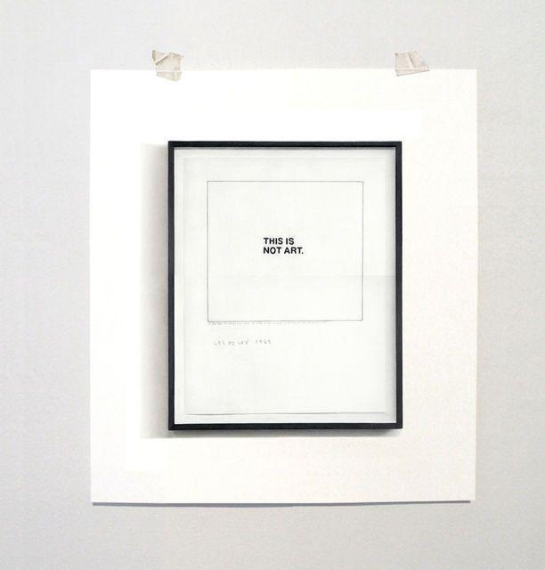 »this is not art« bychristine kozlov(1969)