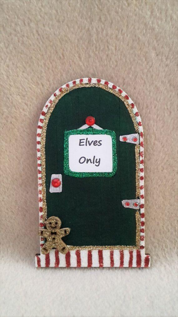 Fairy Door  Personalised Wooden Elf Fairy Door Christmas Xmas