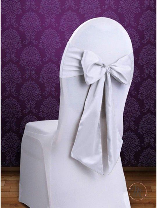 Fiocco per Sedia Satin Bianco. Fiocco per sedia satin. Per decorare le vostre sedie. Misure: 2.75 mt x 15 cm. Ordine minimo 10 pezzi e multipli di 10. #allestimenti #matrimonio #ricevimentomatrimonio #nozze #weddingplanner #accessori #decori #tavoli #sedie #runner #fiocchi #wedding #weddingideas #ideasforwedding #fiocco #satin