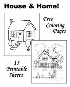 house coloring pages - Open House Coloring Pages