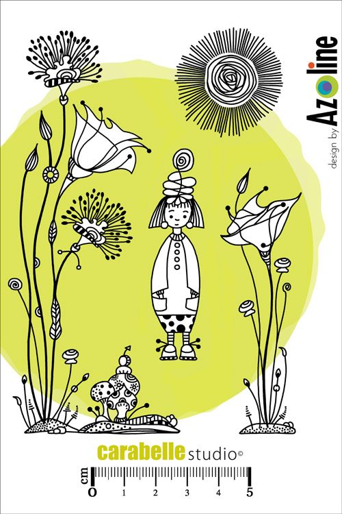 Tampon Zinouk du jardin by Azoline - CARABELLE STUDIO
