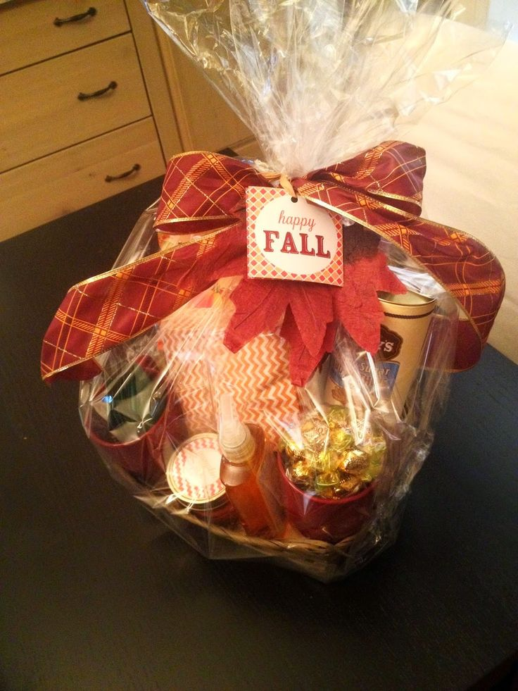 Fall themed gift basket