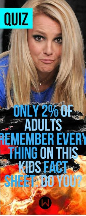 Only 2% of Adults Remember Everything On This Kids Fact