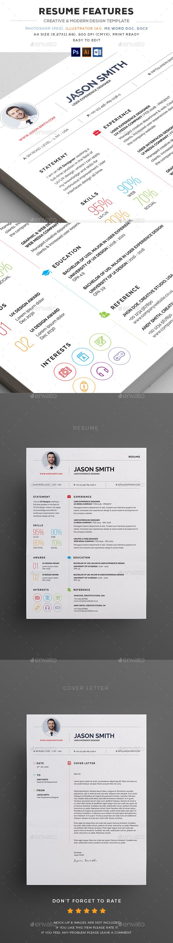 Illustrator Resume Templates 60 Best Cv  Resume Images On Pinterest  Resume Templates Resume