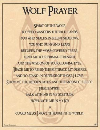 Wolf Prayer Poster - Click Image to Close