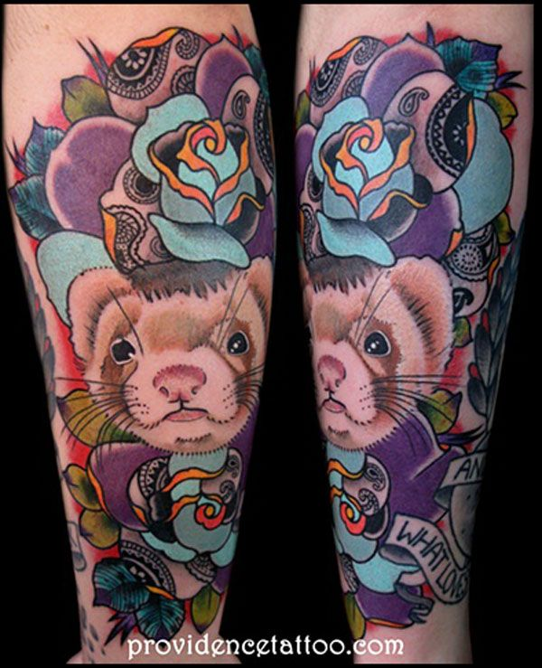 ferret tattoo, pretty, I want!