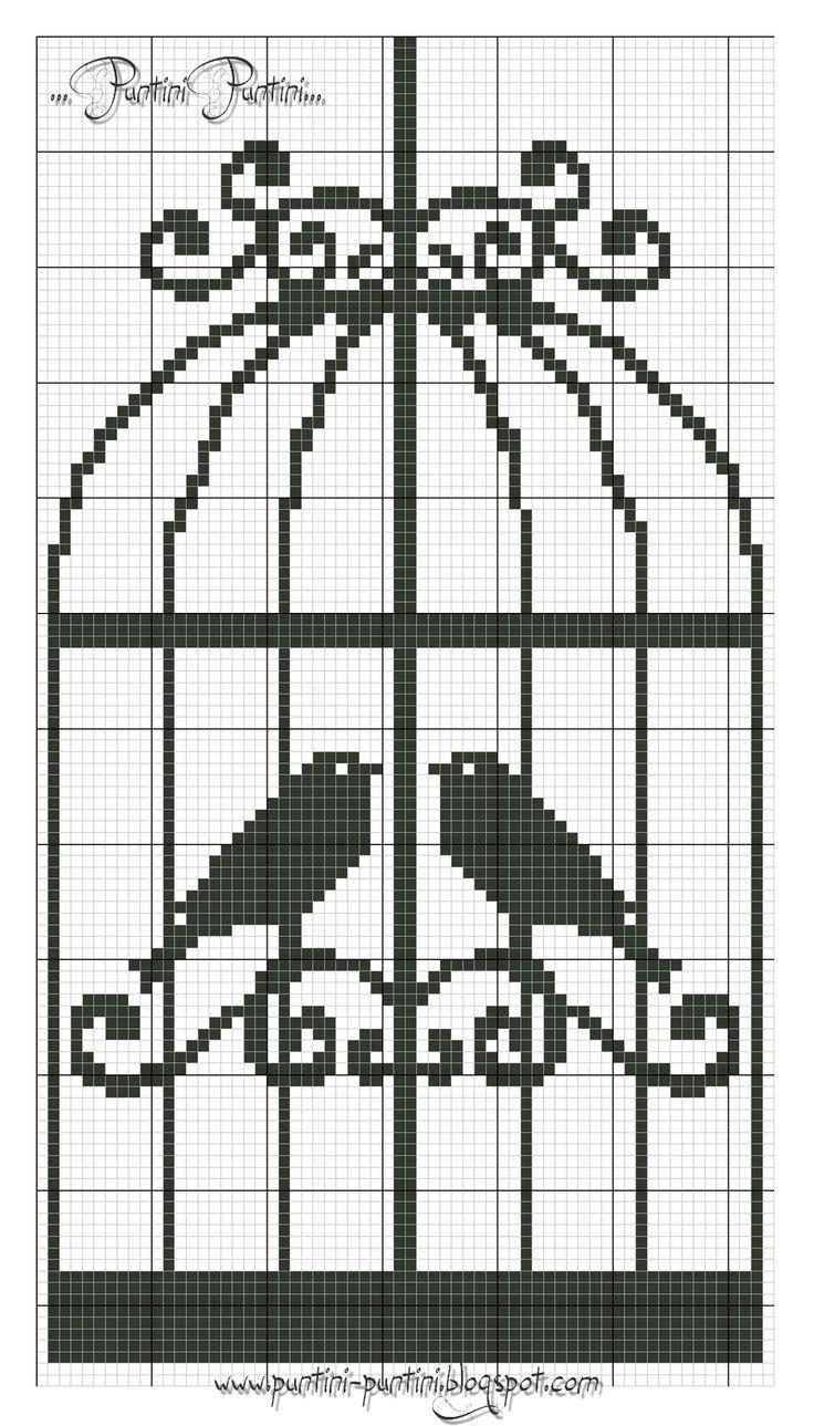 cui cui bird cage cross stitch point de croix
