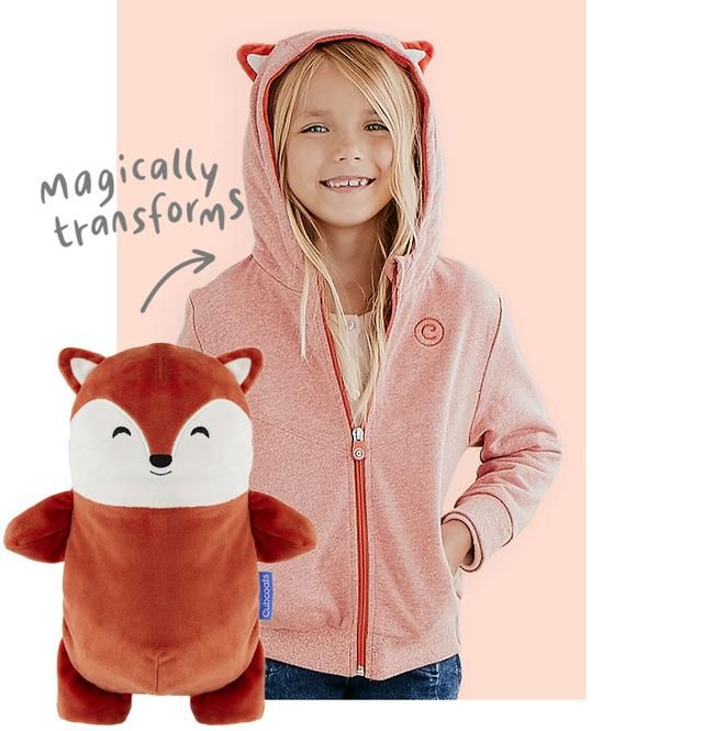 Soft Pink 2-in-1 Transforming Hoodie and Soft Plushie Cubcoats Kali The Kitty