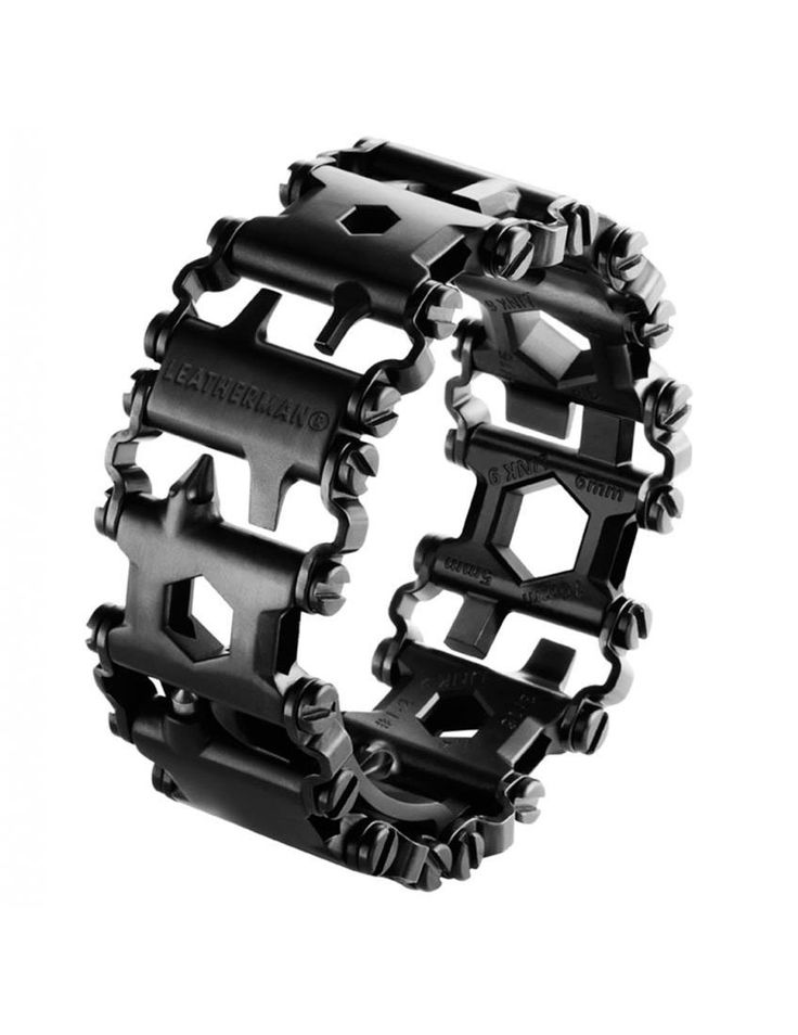 "Leatherman's ""Tread"" bracelet is made up of handy tools that link together to form a bracelet."