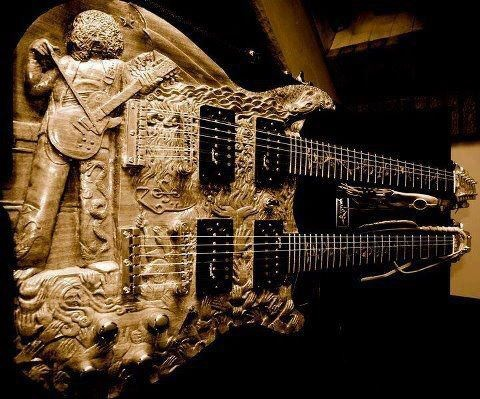 Artwork: Page's doubleneck guitar