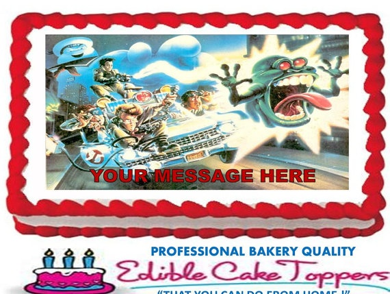 GHOSTBUSTERS Edible Cake Topper Edible Image by ...