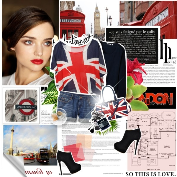 """London In Red"" by anelalovenathan ❤ liked on Polyvore"