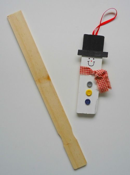 Christmas Craft Flashback #1 - Paint Stirrer Snowman