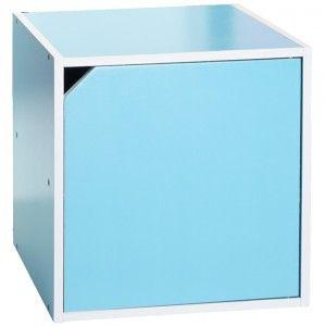 Etag re murale tag re cube cubes de rangement portes - Etagere murale bleu turquoise ...