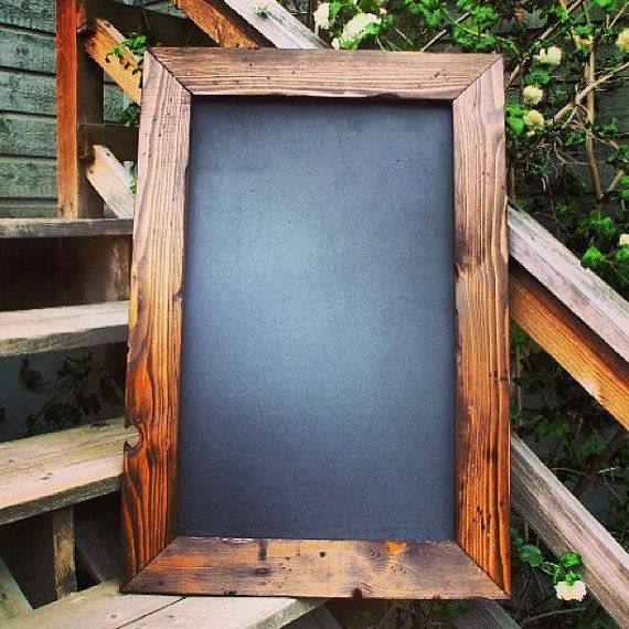 24x36 Large Rustic Framed Chalkboard By Straitchalk On Etsy 69 00 So Cute For A Menu Board In The Kitchen Future Home Pinterest
