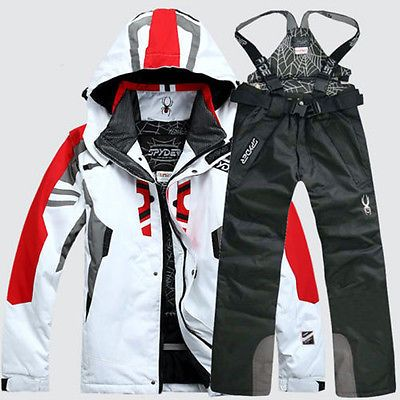 Snowsuits 62178: Winter Sports Mens Ski Clothing Windproof Warm Snowboard Ski Coat Pants Suit BUY IT NOW ONLY: $69.99