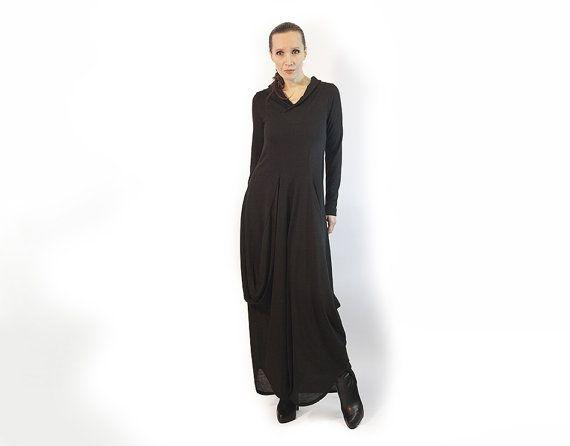 Dress black dresslong dresslong sleevesdark by AnnaPerena on Etsy, $150.00