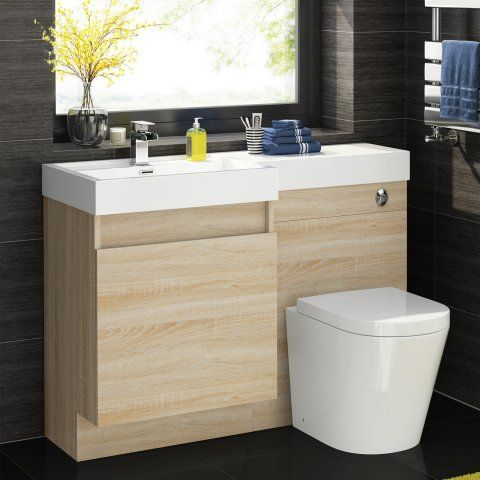 1206mm Olympia Light Oak Effect Drawer Vanity Unit - Lyon Pan [PT-MV2741] - £399.99 : Platinum Taps & Bathrooms