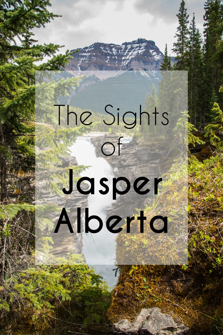 The sights of Jasper Alberta, Canada.