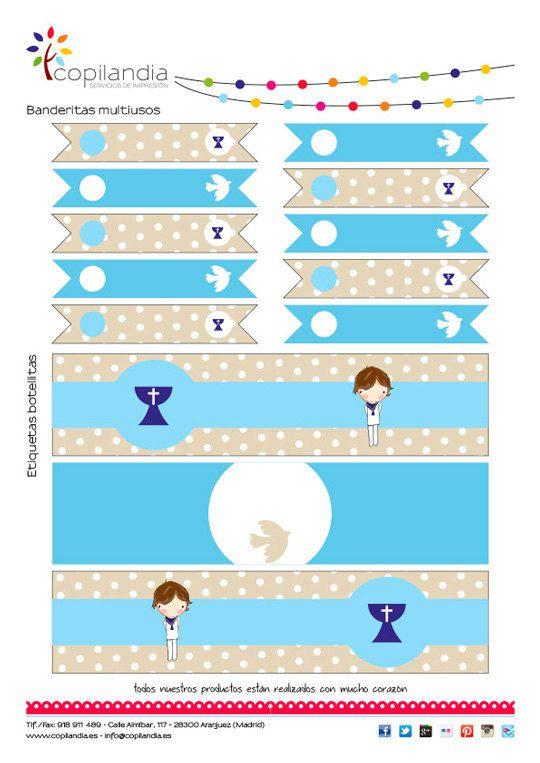 Imprimible Primera Comunion Niño 2 por CopilandiaEventos en Etsy