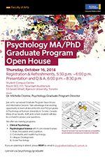 Admissions Requirements - Ryerson Psychology Graduate Program (MA, PhD) - Ryerson University
