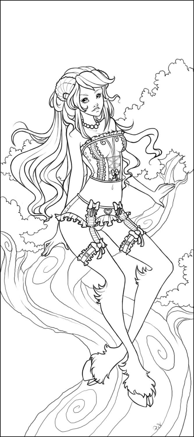 Free printable zodiac coloring pages - Don T Worry I Will Color It _ Aries_lineart