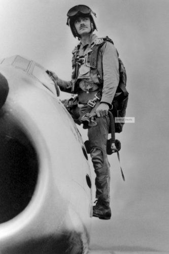 John Bolt  Ace of VMF-214 in WW2 the only Marine to become an ace in WWII and Korea. In WWII, he flew with 'The Black Sheep',  Bob Alexander, mistakenly attacking a PT boat, getting shot down by its crew, and the Black Sheep's later efforts to find his remains.