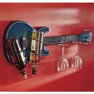 Guitar Wine Bottle Rack http://www.YourWineCellar.org♥♫♥♫♥♥♫♫♥J