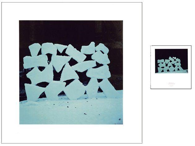 Andy Goldsworthy  Slabs of frozen Snow, December 24 (1987)  Photo: Galerie Lelong