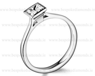 Princess cut engagement rings from Dublin jewellers in Ireland