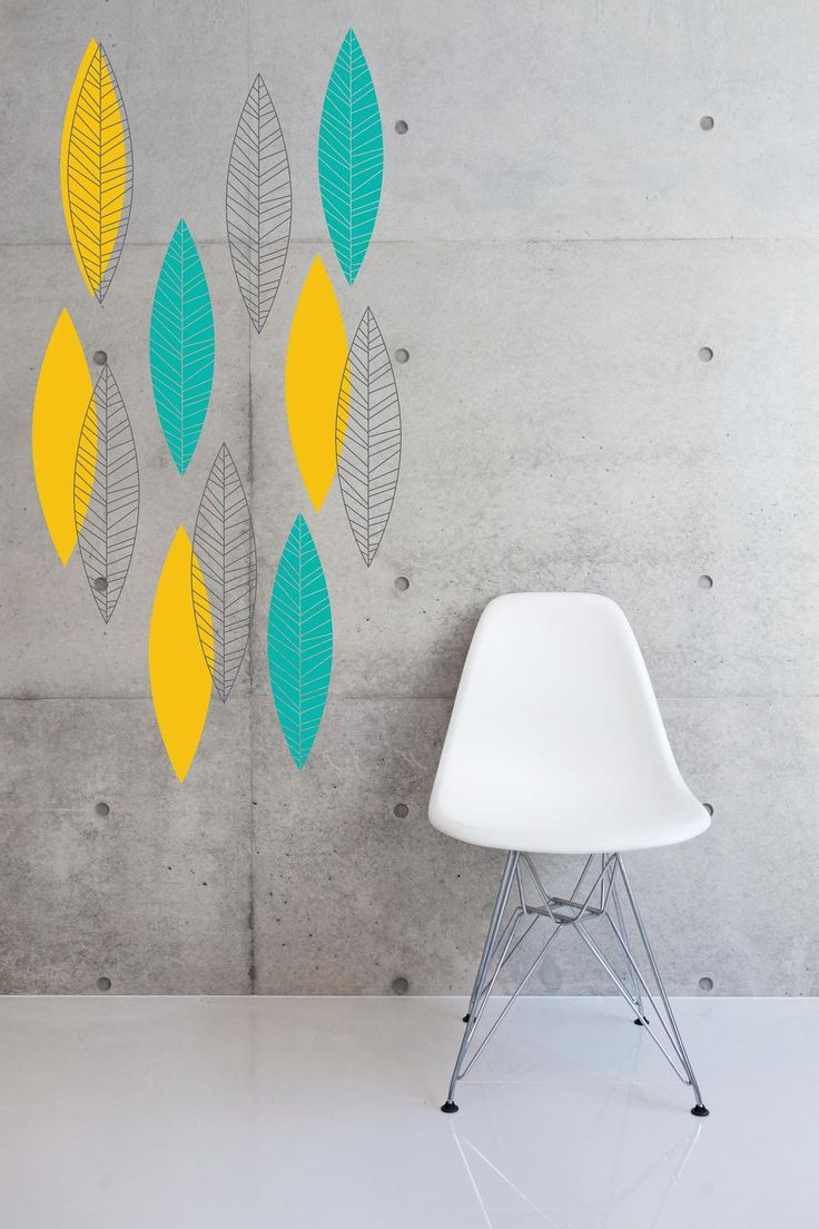 18 best large wall stickers images on pinterest large wall mid century leaves wall sticker by zazous made by zazous 44 99 at bouf