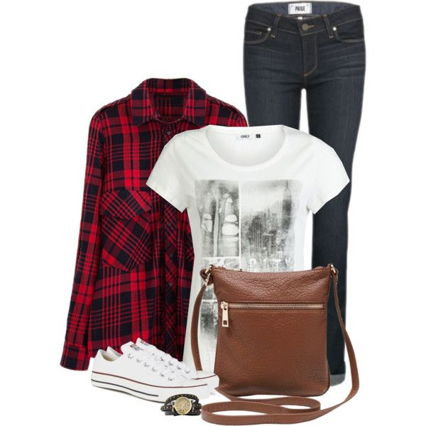 Untitled #237 by leehyena on Polyvore featuring Chicnova Fashion, ONLY, Paige Denim, Converse, M&Co and Bling Jewelry