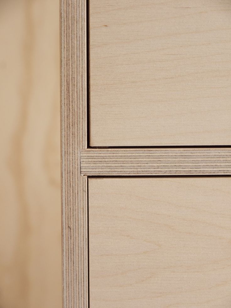 plywood reveal detail - could use this detail as joins between plywood sheet panels