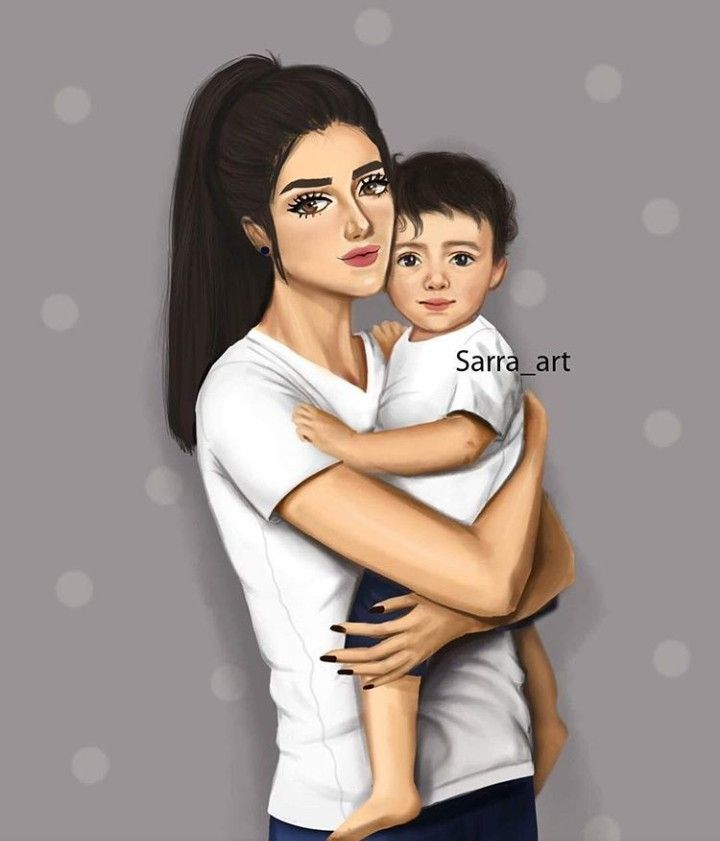 Pin By Shereena On Digital Art Sarra Art Mother Art Mom Art