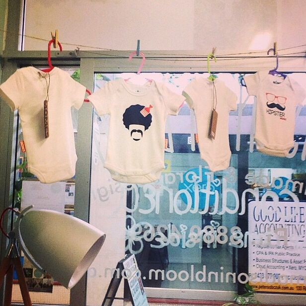 Lovely display of #MÔMES baby onesies over  at @madisoninbloom