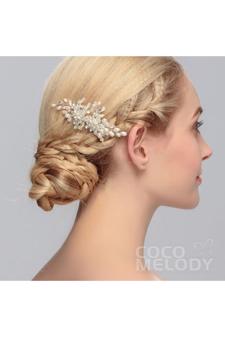 Fa fancy hair bun accessories - Fashion Silver Cloud Alloy Wedding Headpiece With Crystal And Imitation Pearl