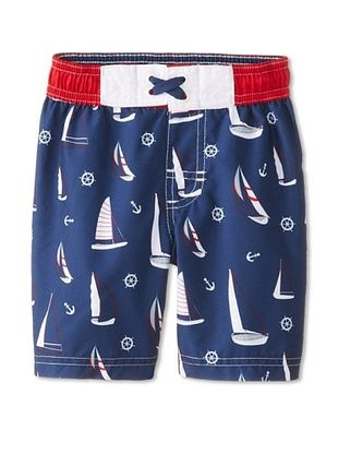 48% OFF Wippette Kid's Sailboat Board Short (Navy)