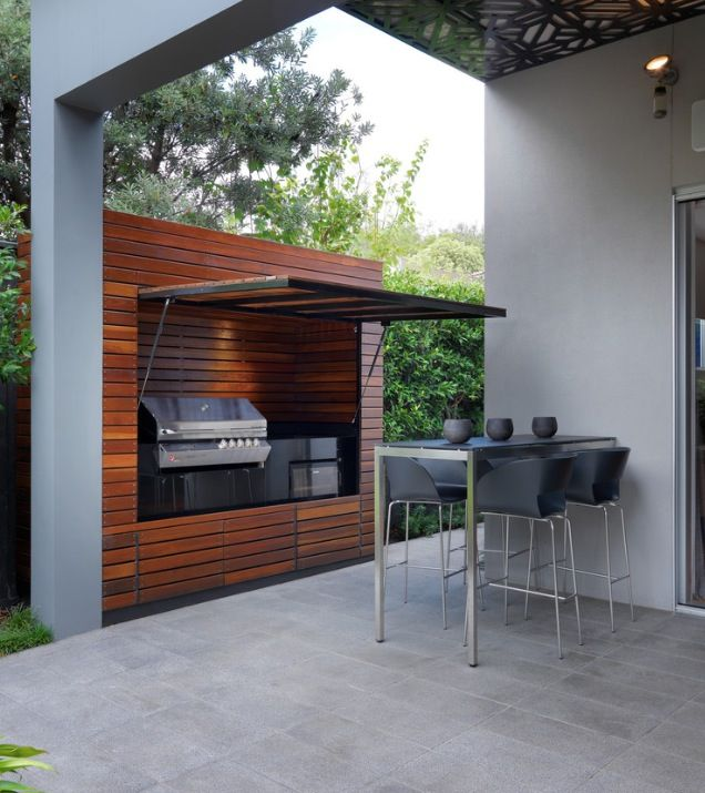 Tuck-away outdoor BBQ - love its cleanliness