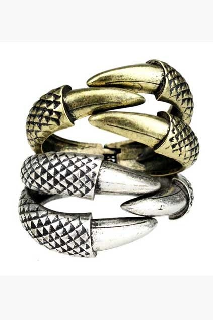 The claws of hawk bracelet, features matte appearance, subtle unique design and spring closure. Claws of hawk indicates individuality and a feelings of luxury.$20