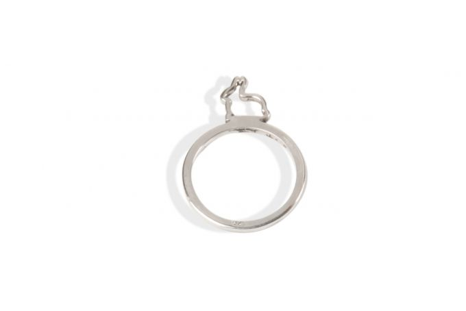 Sterling silver bunny stacking rings by Natasha G Jewellery Design Studio