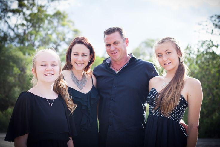 The family (from left) Emily, me, Jonno & Jacinta