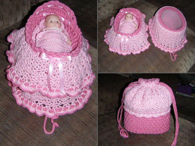 Bassinet Purse Crochet Doll Clothes Crochet Baby