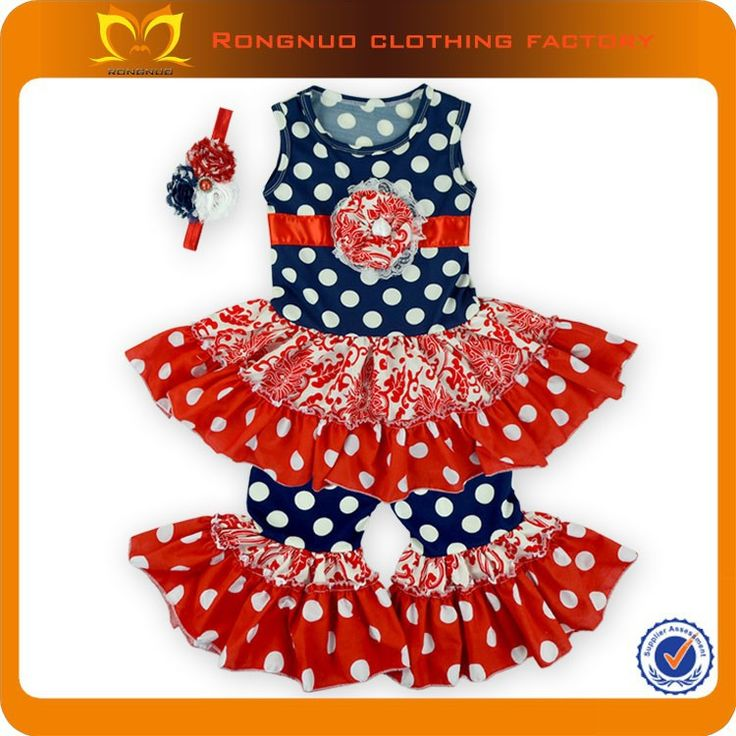 2015 Wholesale Price Baby Clothes wholesale children boutique clothing printed children summer fashion kids