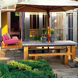 Make a Great Table The Focus - zinc topped garden table